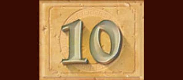 10.สัญลักษณ์ภาพตัวเลข 10-Tiger's Glory-Pussy888